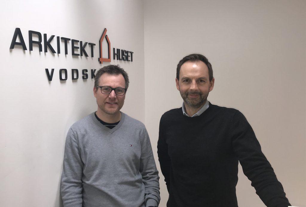 Fra venstre: Lars Balle og Henrik Nørgaard fra Arkitekthuset Vodskov