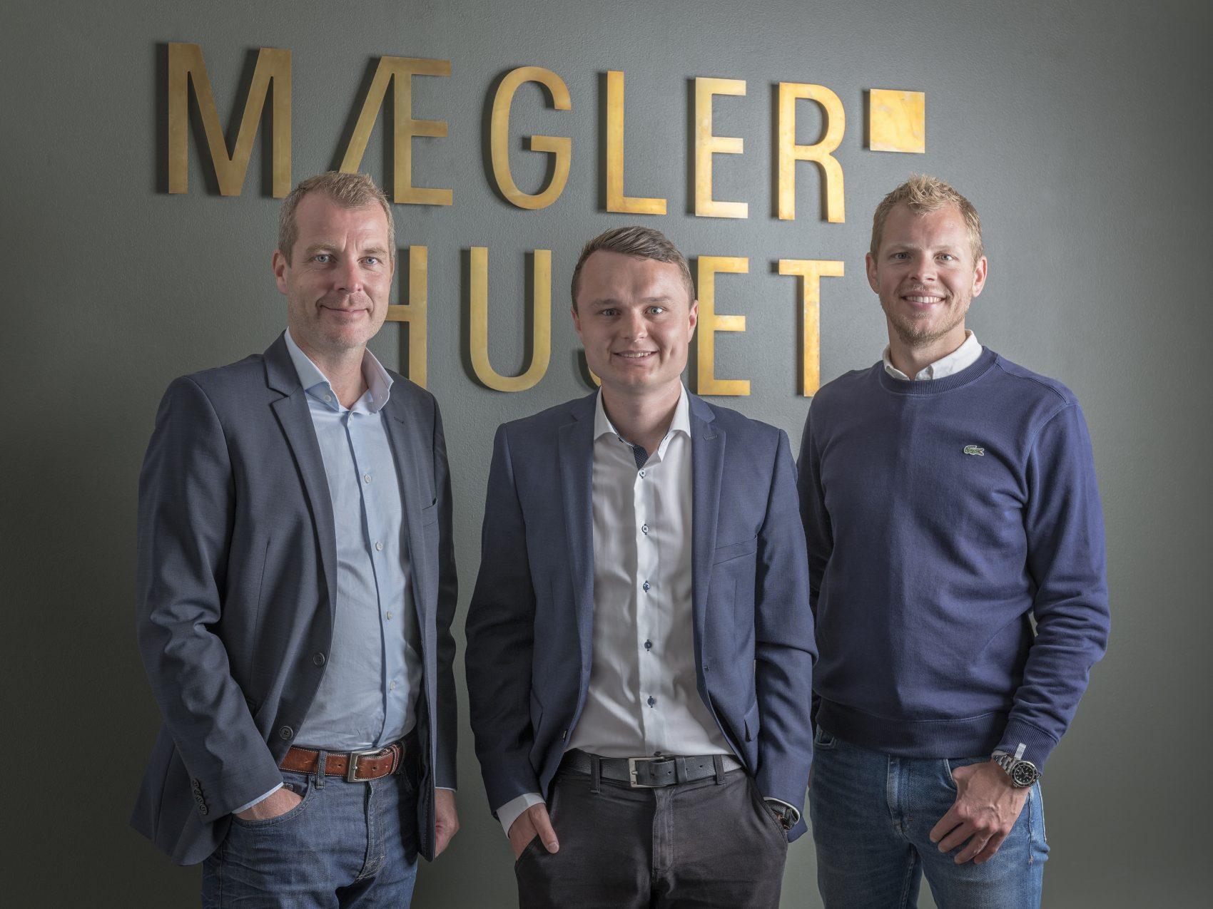 Fra venstre: Mads Sørensen, Simon Rye og Thomas Skifter Andersen