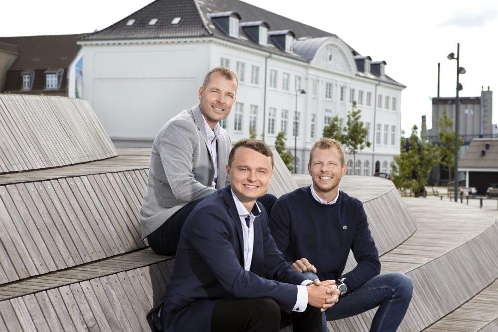 De tre indehavere af Mæglerhuset. Fra venstre: Mads Sørensen, Simon Rye og Thomas Skifter Andersen